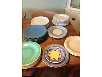 7 white Ikea dinner plates & job lot of others