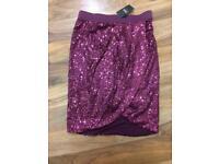 new Next Sequinned skirt