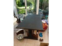 Gorgeous solid pine table, Vintage refectory style. Painted annie sloan chalk paint
