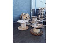 Up-cycle wooden cable drums several different sizes to choose from