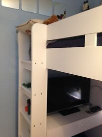 Cabin bed, 3ft midi with built in desk