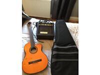 Hudson HCL100E classical semi acoustic guitar