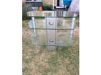 Glass TV stand - 3 levels