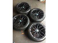 BMW 3 (F30) 225 x 45 R18' Black Alloy winter Wheels & Pirelli SottoZero Tyres