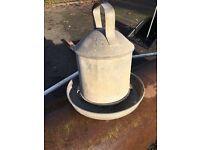Galvanised chicken water feeder