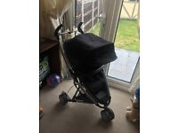 Quinny zapp xtra black pram with new bumper bar, rain cover and cosy toes