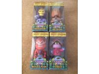 4 HE MAN MASTERS OF THE UNIVERSE BOBBLE HEADS FUNKO