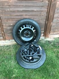 Vauxhall meriva skinny spare wheel, never been used, cost £200 new