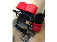 Bugaboo Donkey Duo v1.1 Bundle (EX display red hoods)
