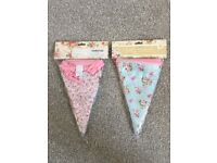 Vintage Floral Fabric Bunting for sale  Newport
