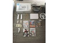 Wii CONSOLE WITH 6 TOP GAMES