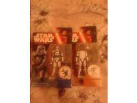 X2 FN-2187 & First Order Storm tropper Squad Leader Star Wars Force Awakens Disney Hasbro Figures.