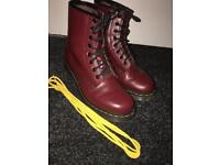 Size 5 red matte doc martens