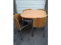 IKEA fusion dining table and four chairs