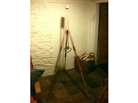Artists Easel - beechwood - used - good working condition - portable telescopic tripod type - £10