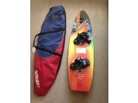O'Brien wakeboard with bindings and bag