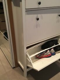 Like New Ikea Shoe Cabinet Holds 14 Pairs of Shoes with 1 Drawer
