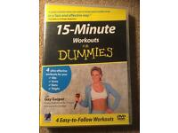 Pilates, Cardio combat, 15 minutes work out for dummies