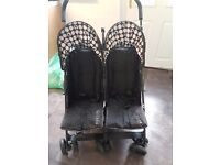 Mickey mouse double pram