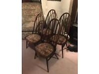 12 x oak dining room chairs