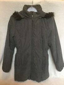 Lovely warm coat, size 16 mint condition