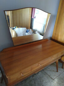 Set of Vintage Bedroom Furniture by Alfred Cox circa 1955 - Dressing Table and Two Wardrobes