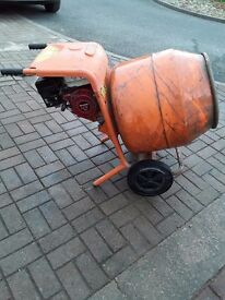 Bell petrol cement mixer with stand