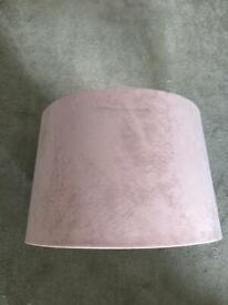Pink/ blush velvet lampshade