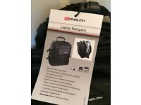 Laptop backpack - black -brand new. Cost £52