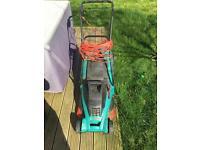 Bosch lawnmower and strimmer
