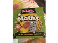 Maths brain box game