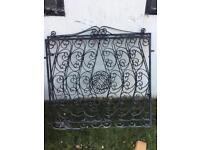 2x black Cast Iron Gates