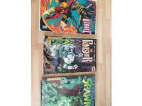 Vintage superhero comic hardbacks