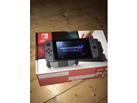 Nintendo Switch 32GB Grey Console with Mario Kart 8 Deluxe + Accessories ***MINT CONDITION***
