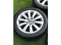 "4 Genuine 18"" Audi A4 alloy wheels"