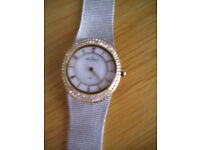 Skagen Silver, Gold and Diamanté Effect Ladies Quartz Watch