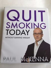 QUIT SMOKING TODAY without gaining weight by PAUL McKENNA [4 x CD's Set]