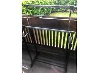 Clothes rail height adjustable 2 rack Space saving