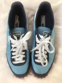 Puma Fast Rider blue and white trainers