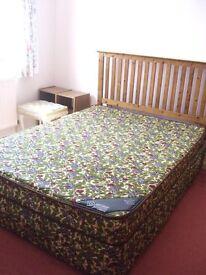 Myer's rare 1970's Mary Quant Floribunda Double Divan bed, mattress and headboard