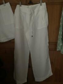 Marks & Spencer linen trousers size 14 short