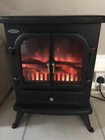 Electric log burner fire