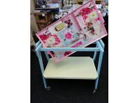 Cute, Kitsch, Vintage, Retro Tea trolley with removable tray