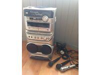 Goodmans CDG Karaoke System with 3 mics. Plus Karaoke DVD's and CD's