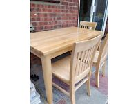 Wooden Dining table and chairs, excellent condition