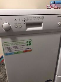 Clean, fully functioning slim BEKO Dishwasher - quick sale!