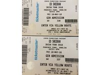 2 x Ed sherran tickets Phoenix park Dublin 18th may 2018