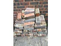 Used bricks - dark red/brown - free to collect