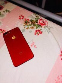 Unlocked Iphone 8plus red