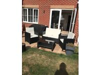 Brand new out of box Black rattan garden furniture for sale